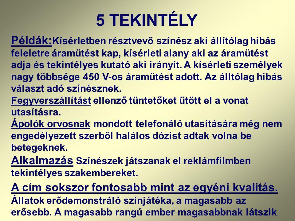 5 TEKINTÉLY
