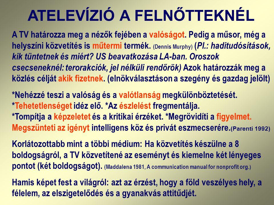 ATELEVÍZIÓ A FELNŐTTEKNÉL