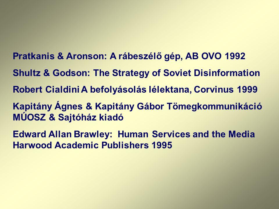 Pratkanis & Aronson: A rábeszélő gép, AB OVO 1992
