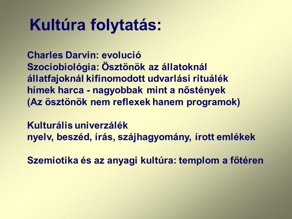 Kultúra folytatás: Charles Darvin: evolució