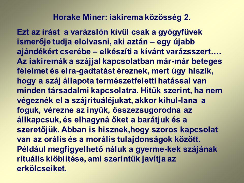 Horake Miner: iakirema közösség 2.