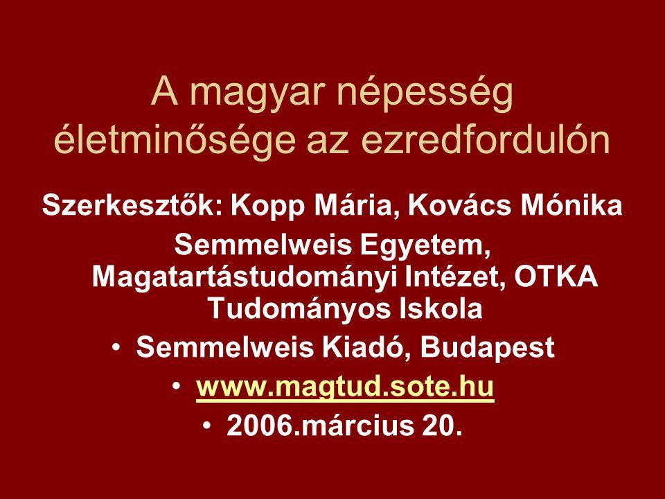 A magyar népesség életminősége az ezredfordulón