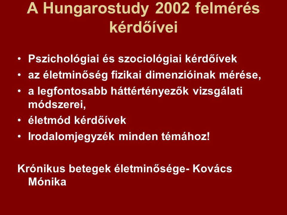 A Hungarostudy 2002 felmérés kérdőívei