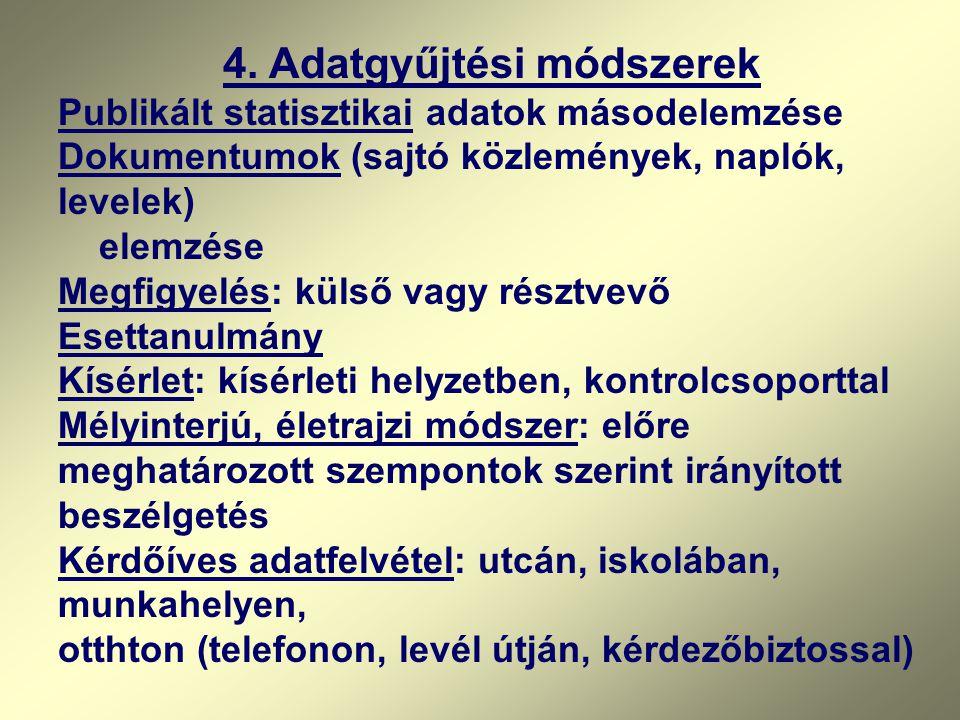 4. Adatgyűjtési módszerek