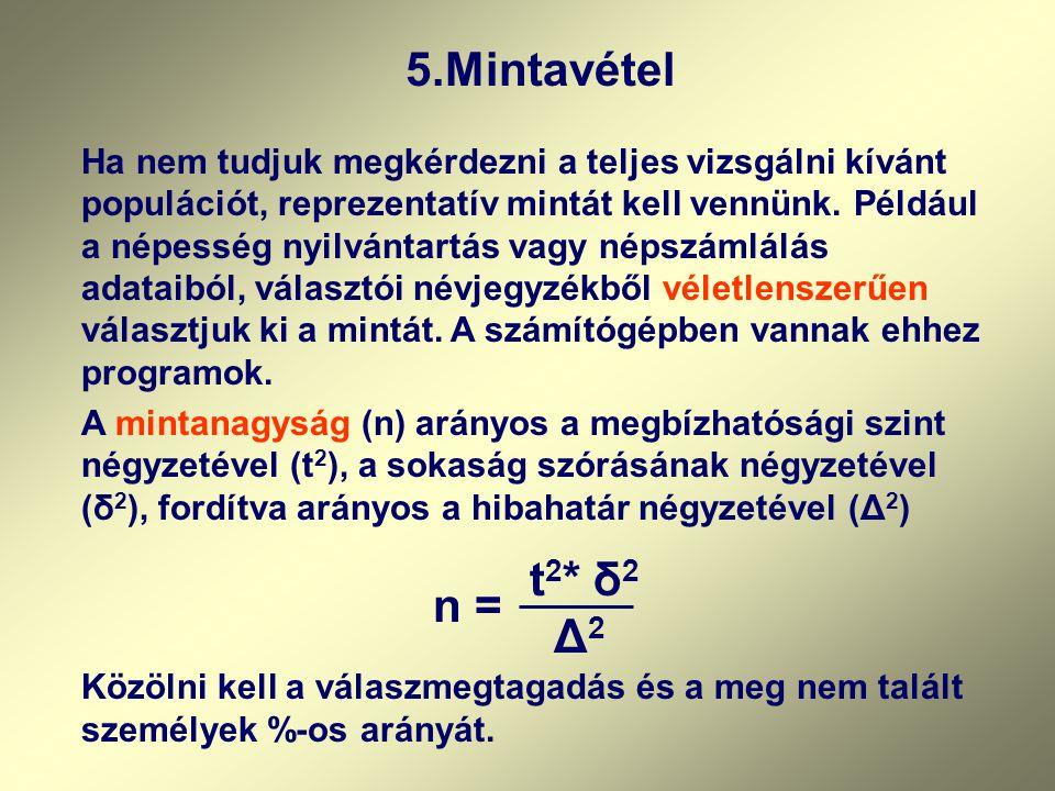 5.Mintavétel
