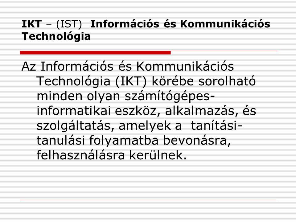 IKT – (IST) Információs és Kommunikációs Technológia
