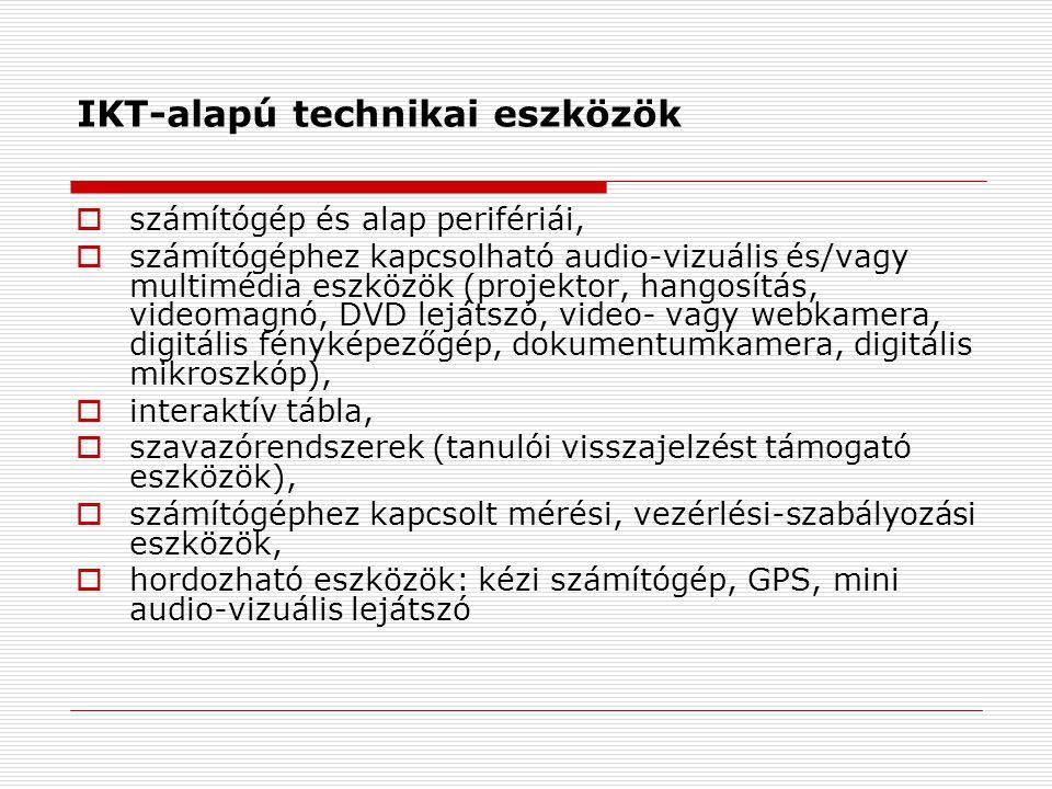 IKT-alapú technikai eszközök