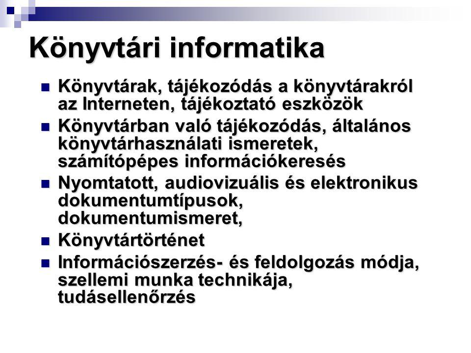 Könyvtári informatika