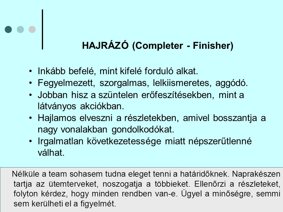 HAJRÁZÓ (Completer - Finisher)