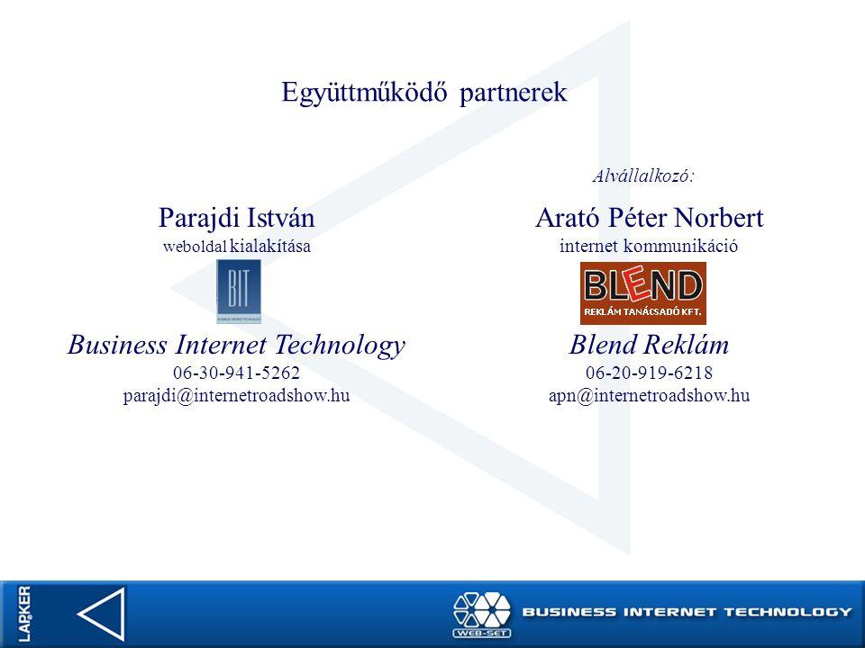 Együttműködő partnerek