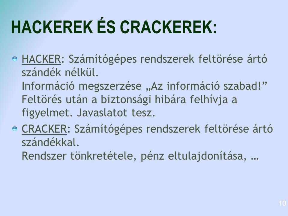 HACKEREK ÉS CRACKEREK: