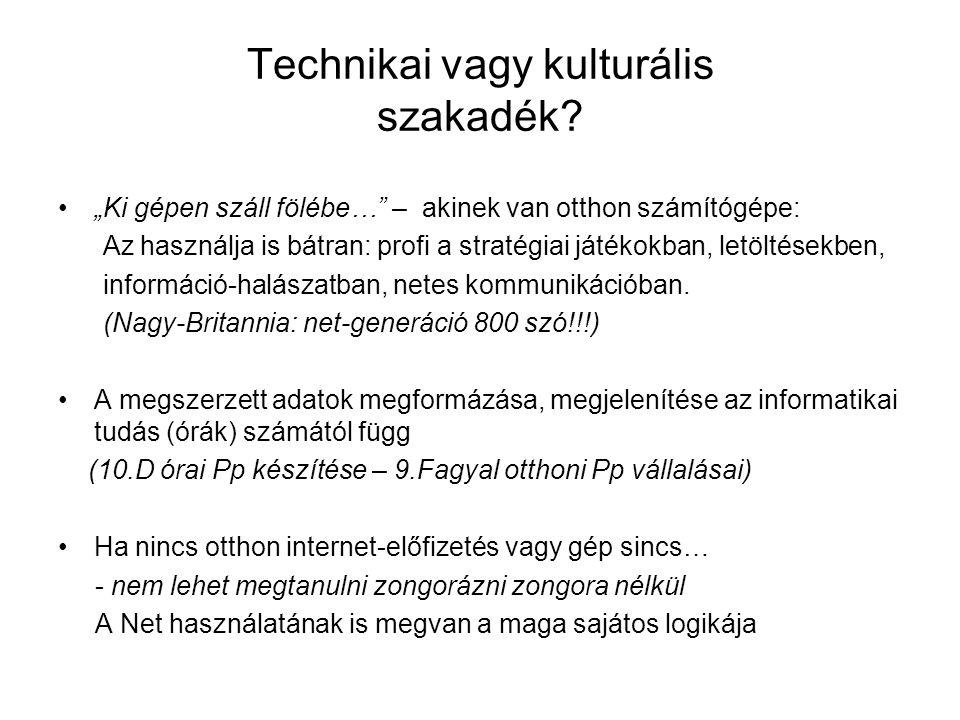 Technikai vagy kulturális szakadék