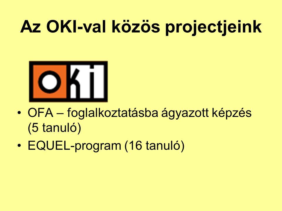 Az OKI-val közös projectjeink