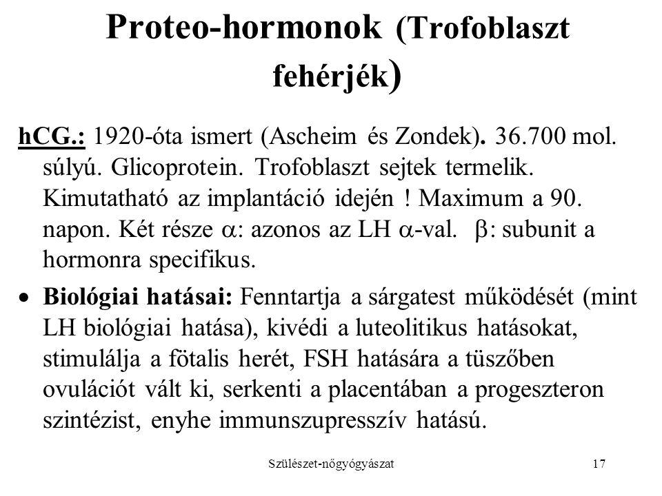 Proteo-hormonok (Trofoblaszt fehérjék)