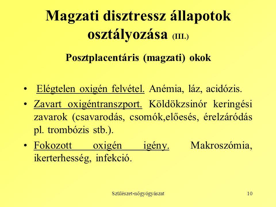 Magzati disztressz állapotok osztályozása (III.)