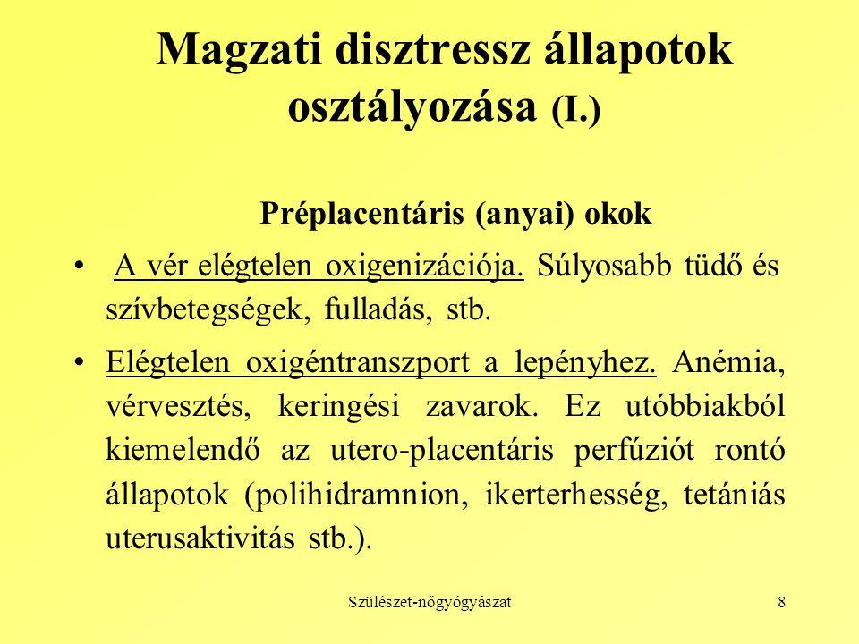 Magzati disztressz állapotok osztályozása (I.)