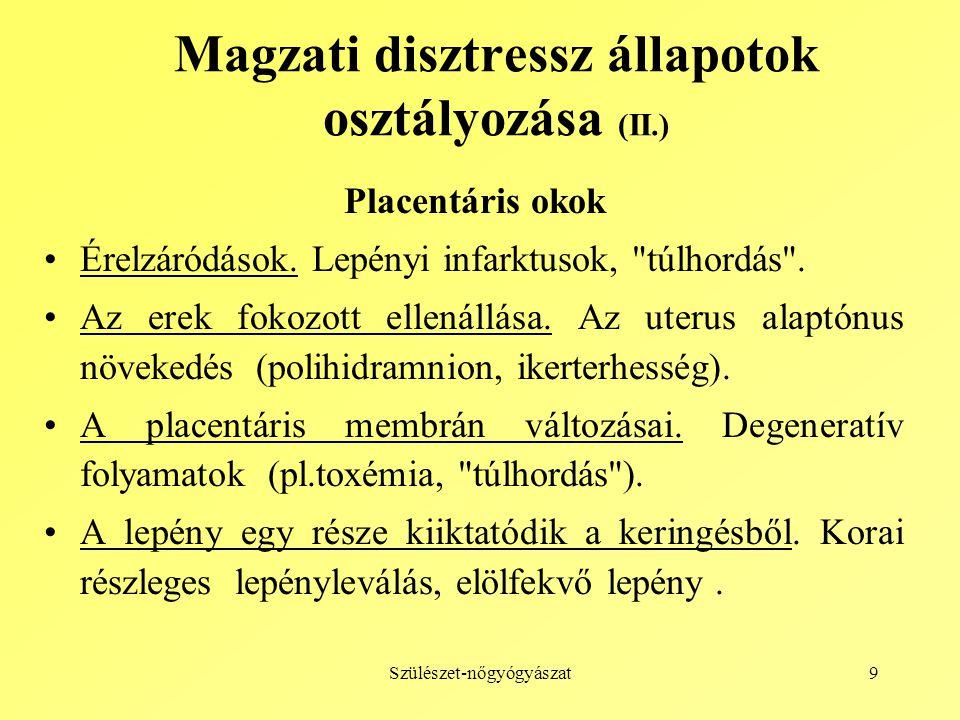 Magzati disztressz állapotok osztályozása (II.)
