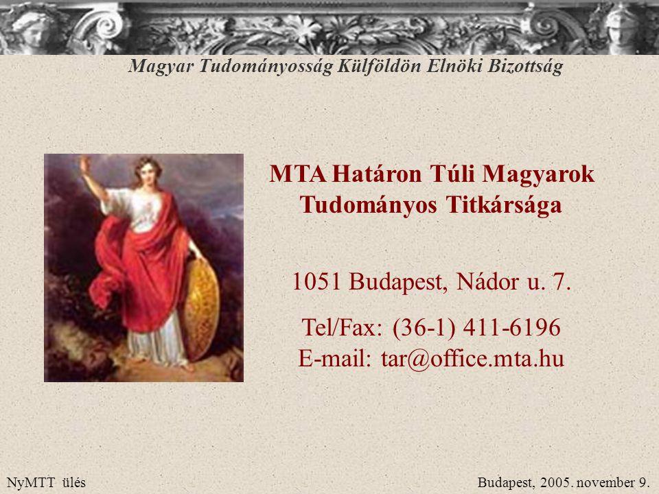 MTA Határon Túli Magyarok Tudományos Titkársága