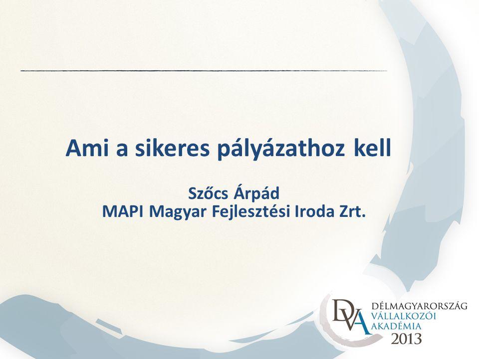 MAPI Magyar Fejlesztési Iroda Zrt.