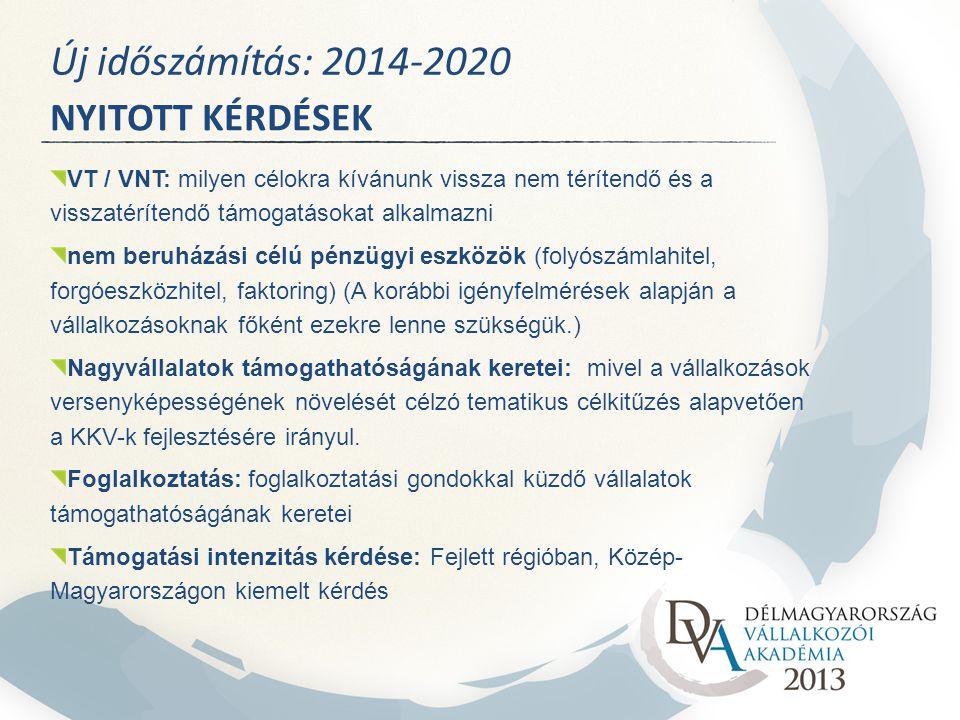 Új időszámítás: 2014-2020 NYITOTT KÉRDÉSEK