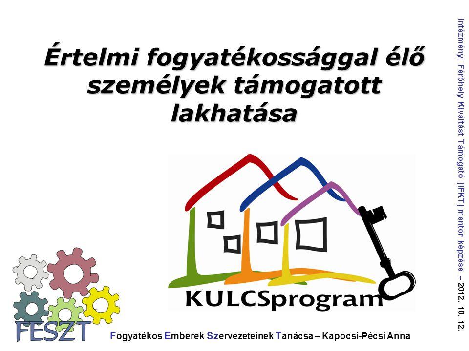 Értelmi fogyatékossággal élő személyek támogatott lakhatása