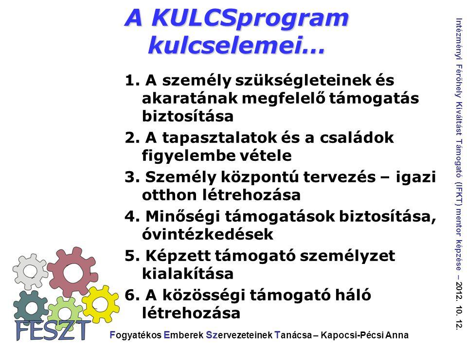 A KULCSprogram kulcselemei…