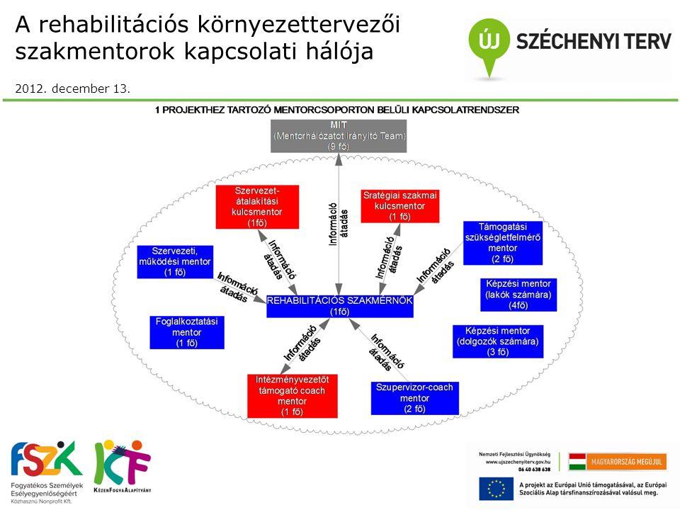 A rehabilitációs környezettervezői szakmentorok kapcsolati hálója 2012