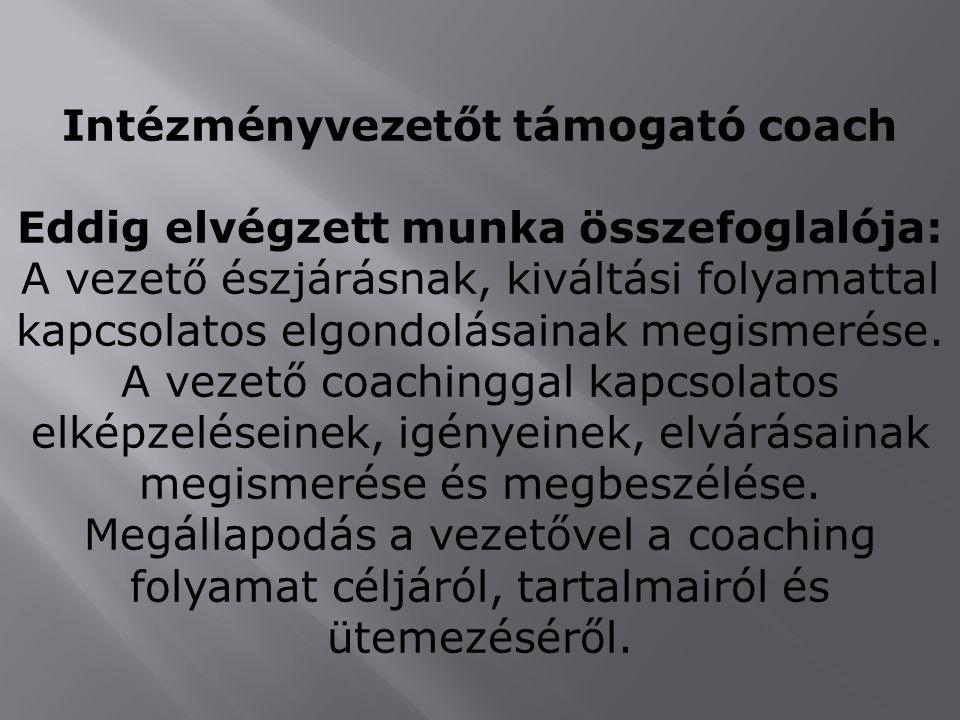Intézményvezetőt támogató coach