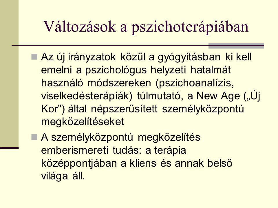 Változások a pszichoterápiában