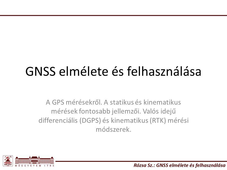 GNSS elmélete és felhasználása