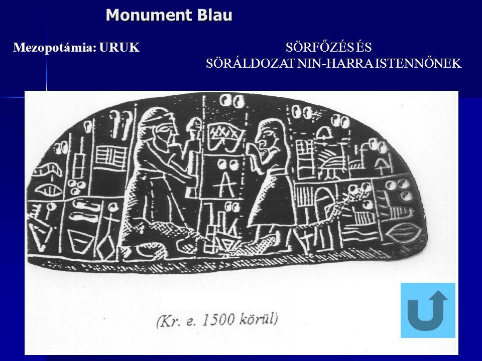 Monument Blau Mezopotámia: URUK SÖRFŐZÉS ÉS