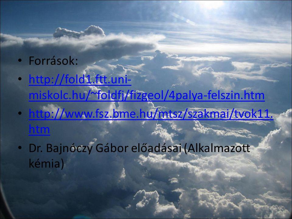 Források: http://fold1.ftt.uni-miskolc.hu/~foldfj/fizgeol/4palya-felszin.htm. http://www.fsz.bme.hu/mtsz/szakmai/tvok11.htm.