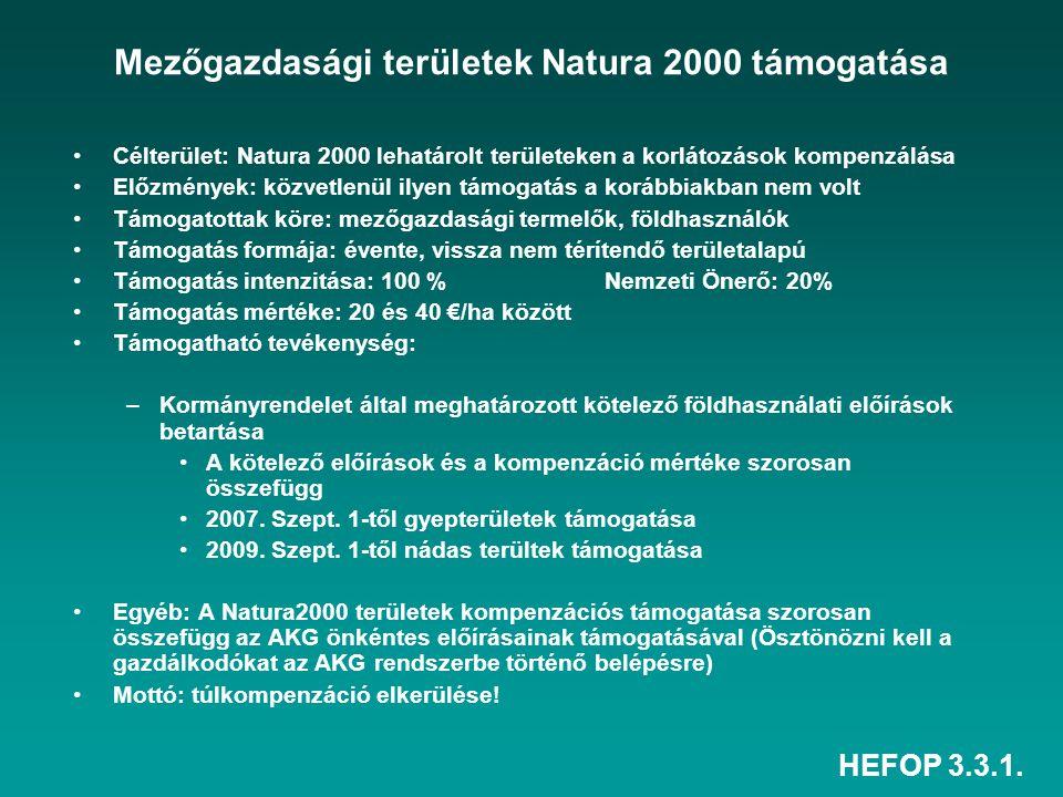 Mezőgazdasági területek Natura 2000 támogatása