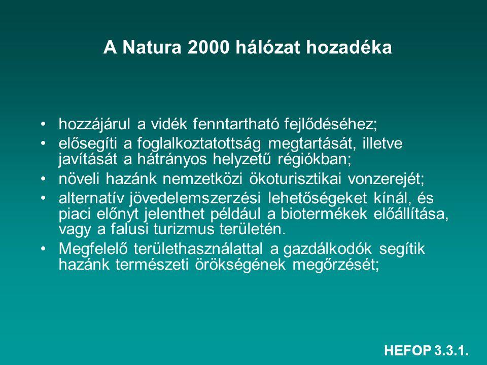A Natura 2000 hálózat hozadéka
