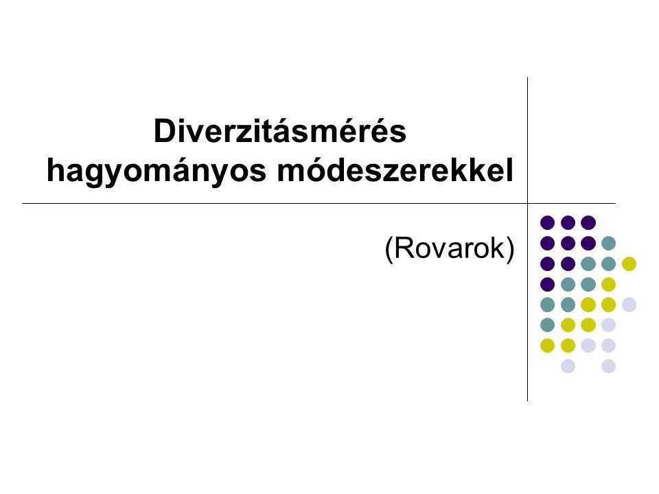 Diverzitásmérés hagyományos módeszerekkel