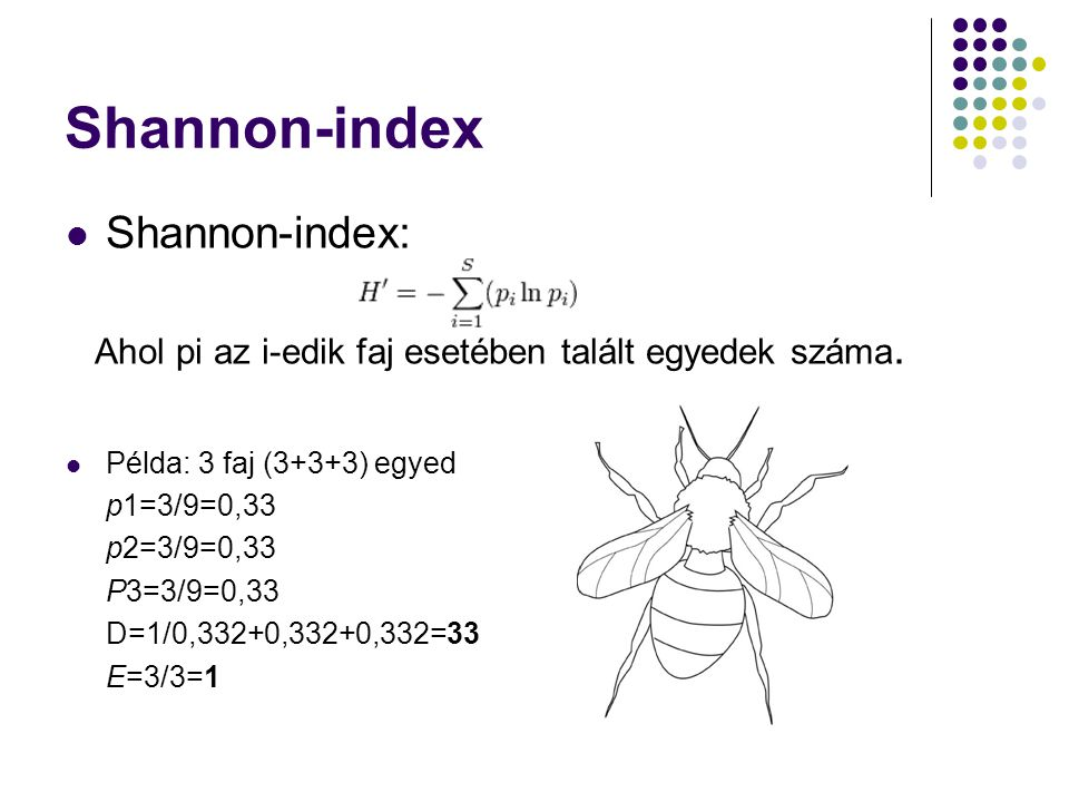 Shannon-index Shannon-index: