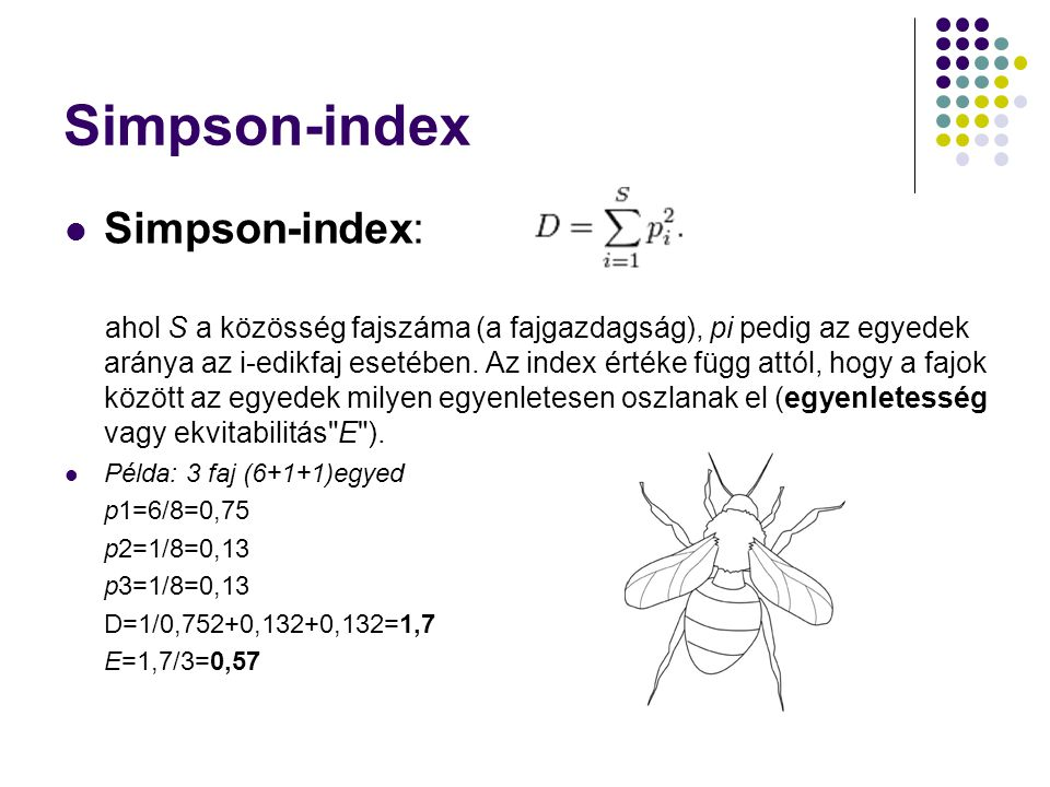 Simpson-index Simpson-index: