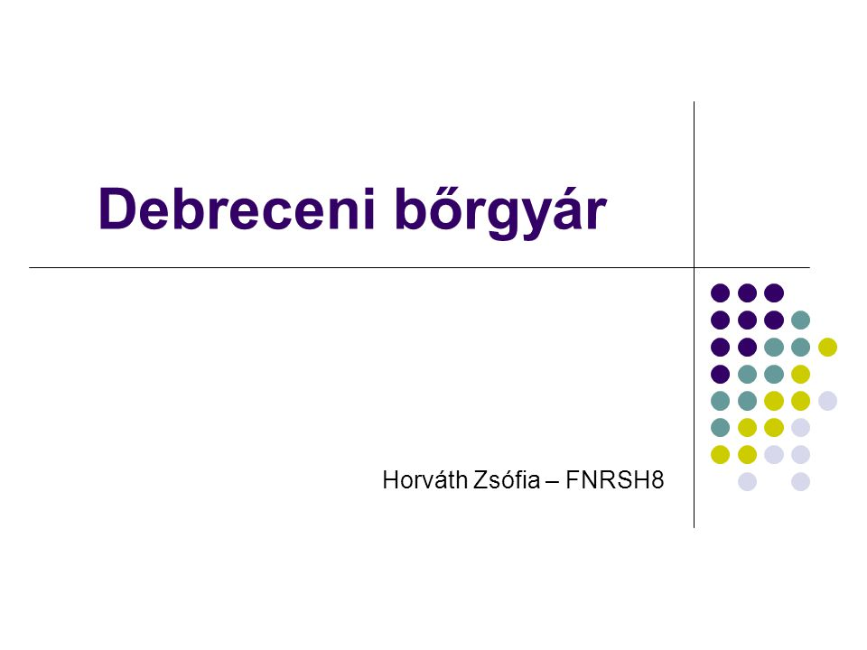 Debreceni bőrgyár Horváth Zsófia – FNRSH8