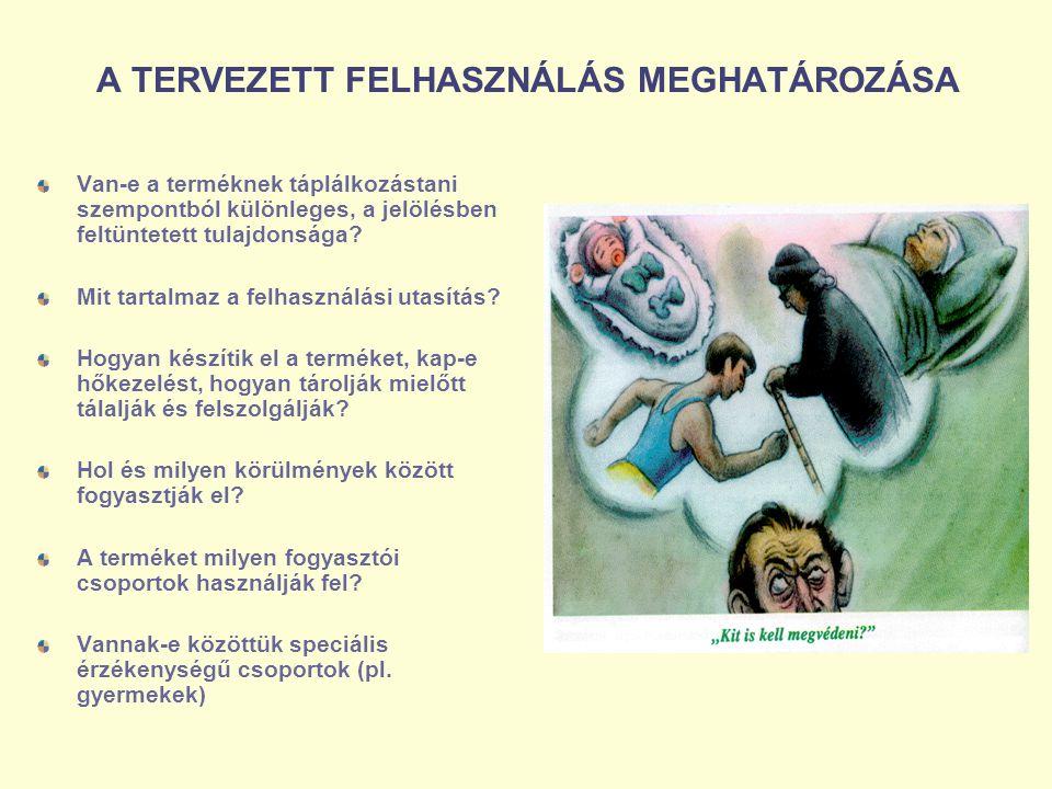 A TERVEZETT FELHASZNÁLÁS MEGHATÁROZÁSA