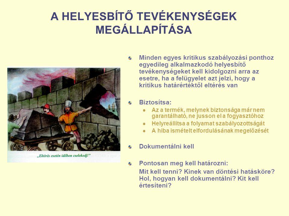 A HELYESBÍTŐ TEVÉKENYSÉGEK MEGÁLLAPÍTÁSA