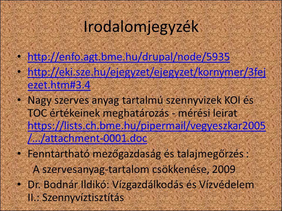 Irodalomjegyzék http://enfo.agt.bme.hu/drupal/node/5935