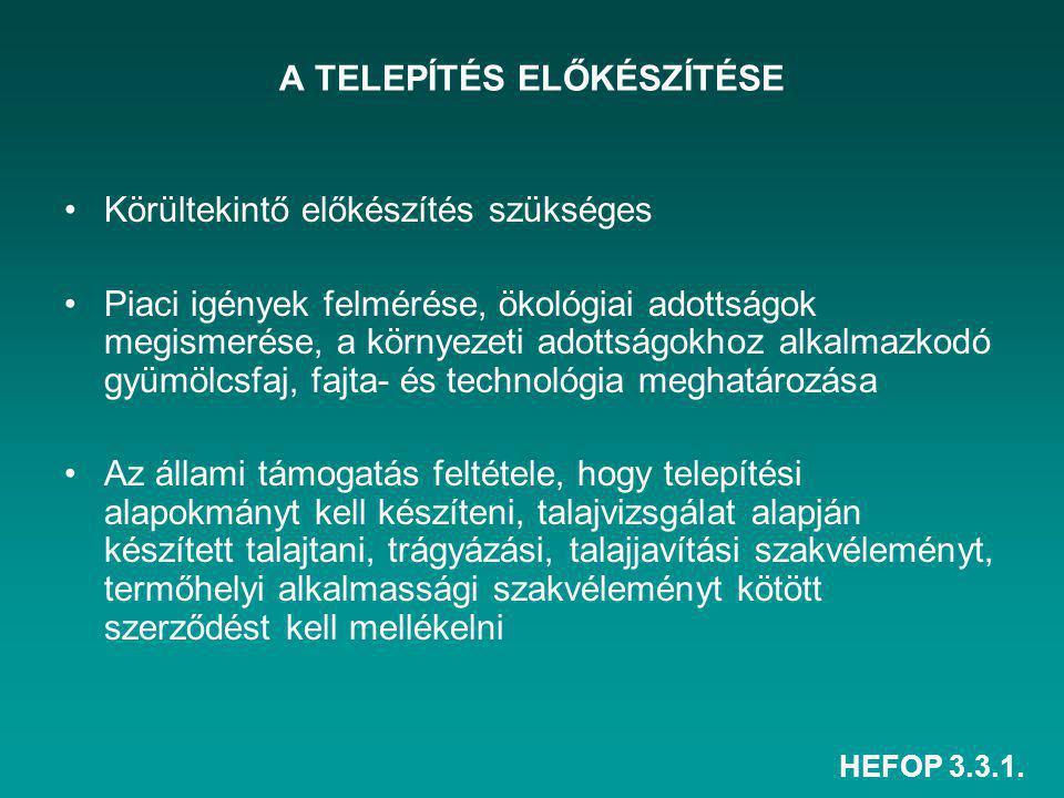 A TELEPÍTÉS ELŐKÉSZÍTÉSE