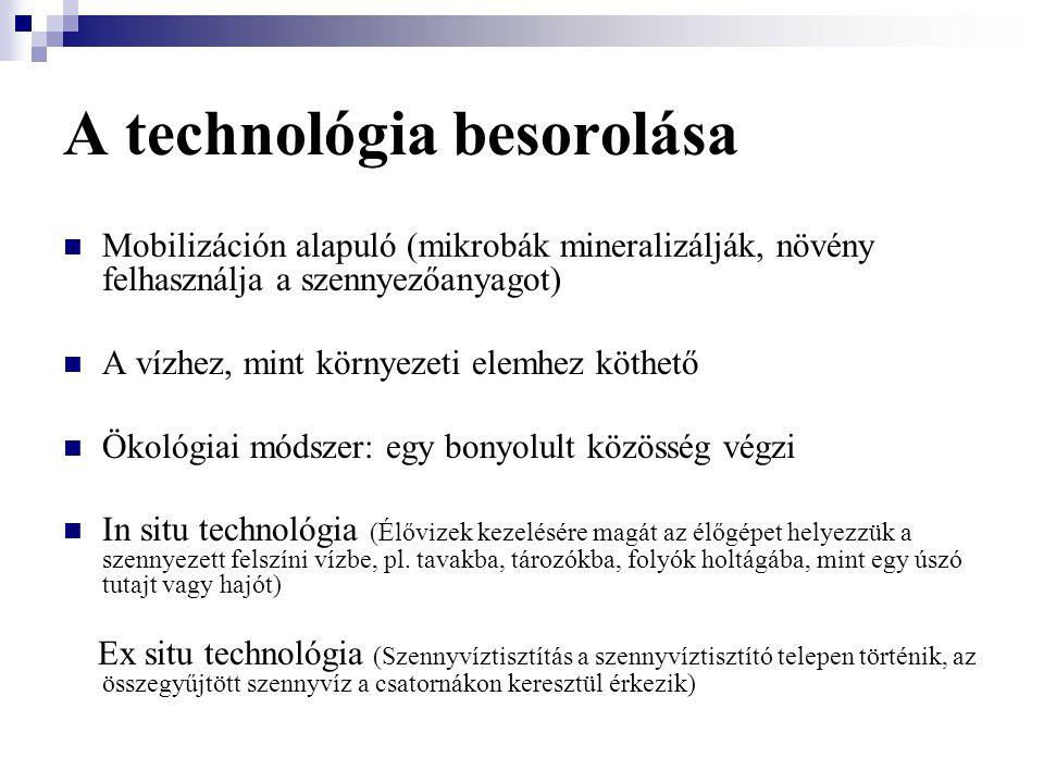 A technológia besorolása