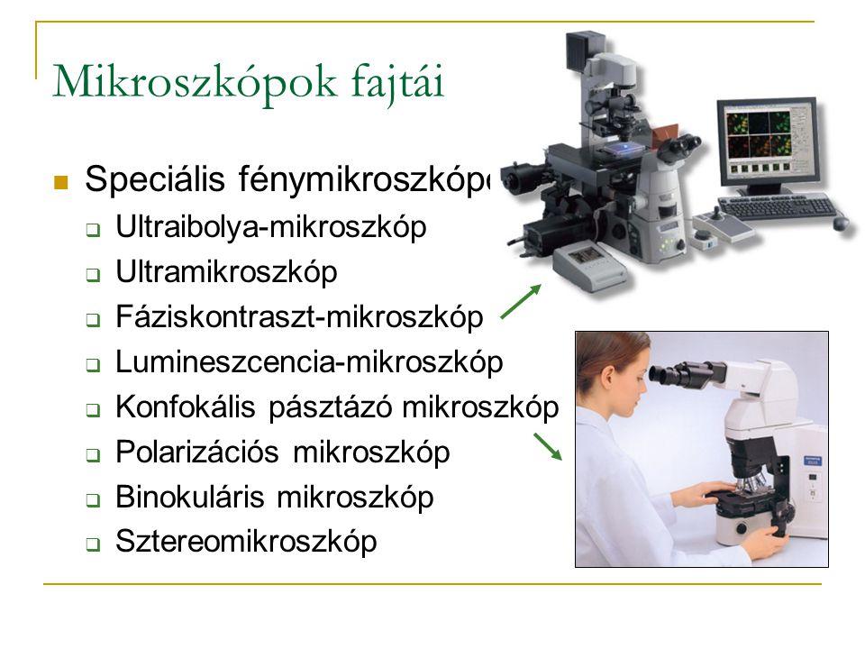 Mikroszkópok fajtái Speciális fénymikroszkópok: Ultraibolya-mikroszkóp