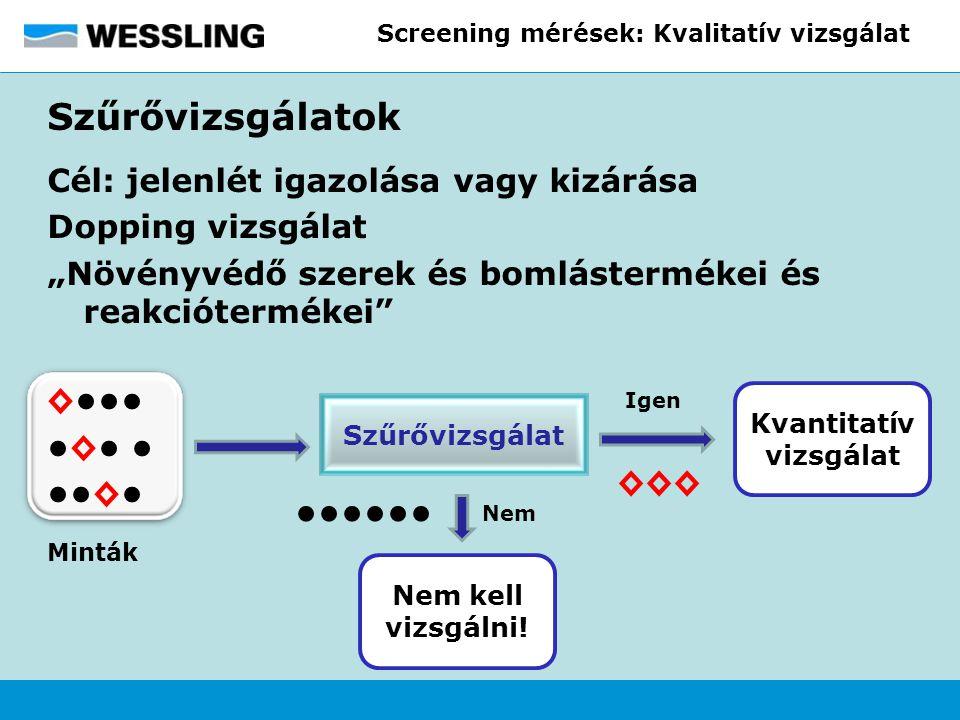 Screening mérések: Kvalitatív vizsgálat