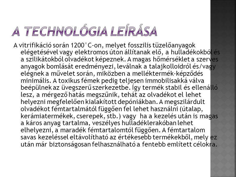 A technológia leírása