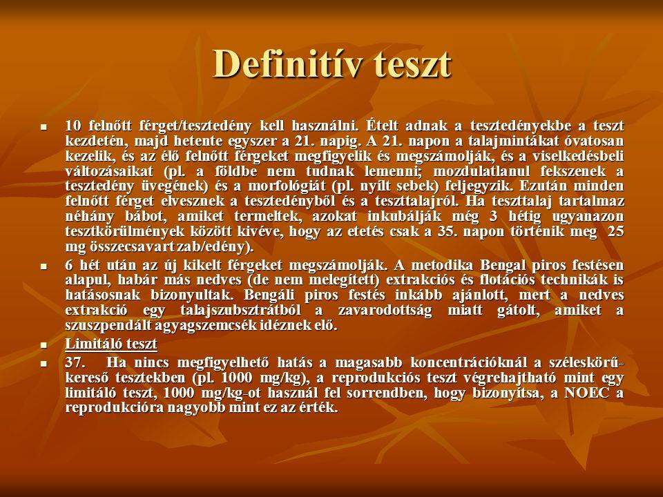 Definitív teszt