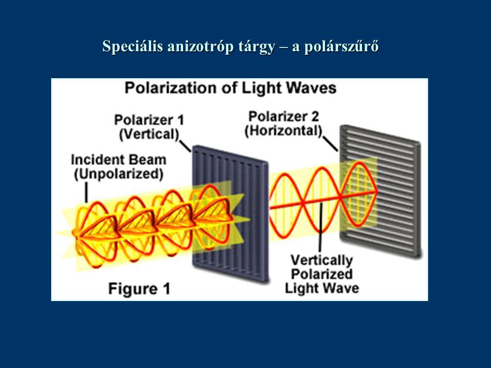 Speciális anizotróp tárgy – a polárszűrő