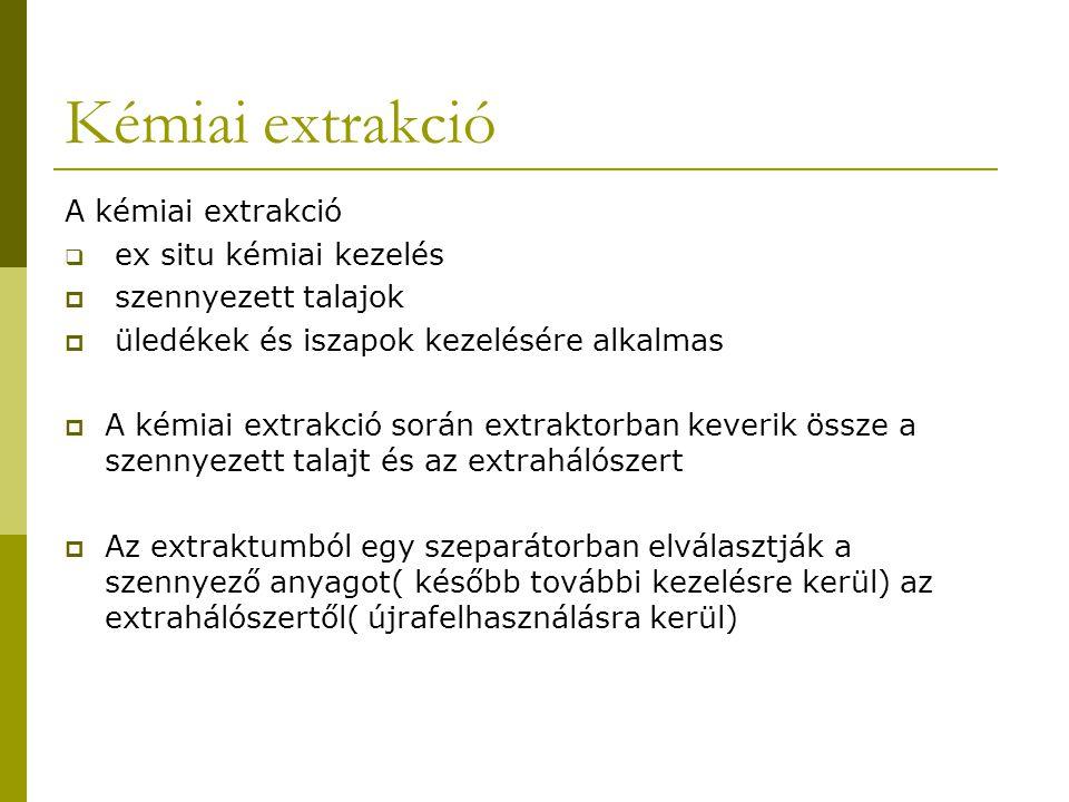 Kémiai extrakció A kémiai extrakció ex situ kémiai kezelés