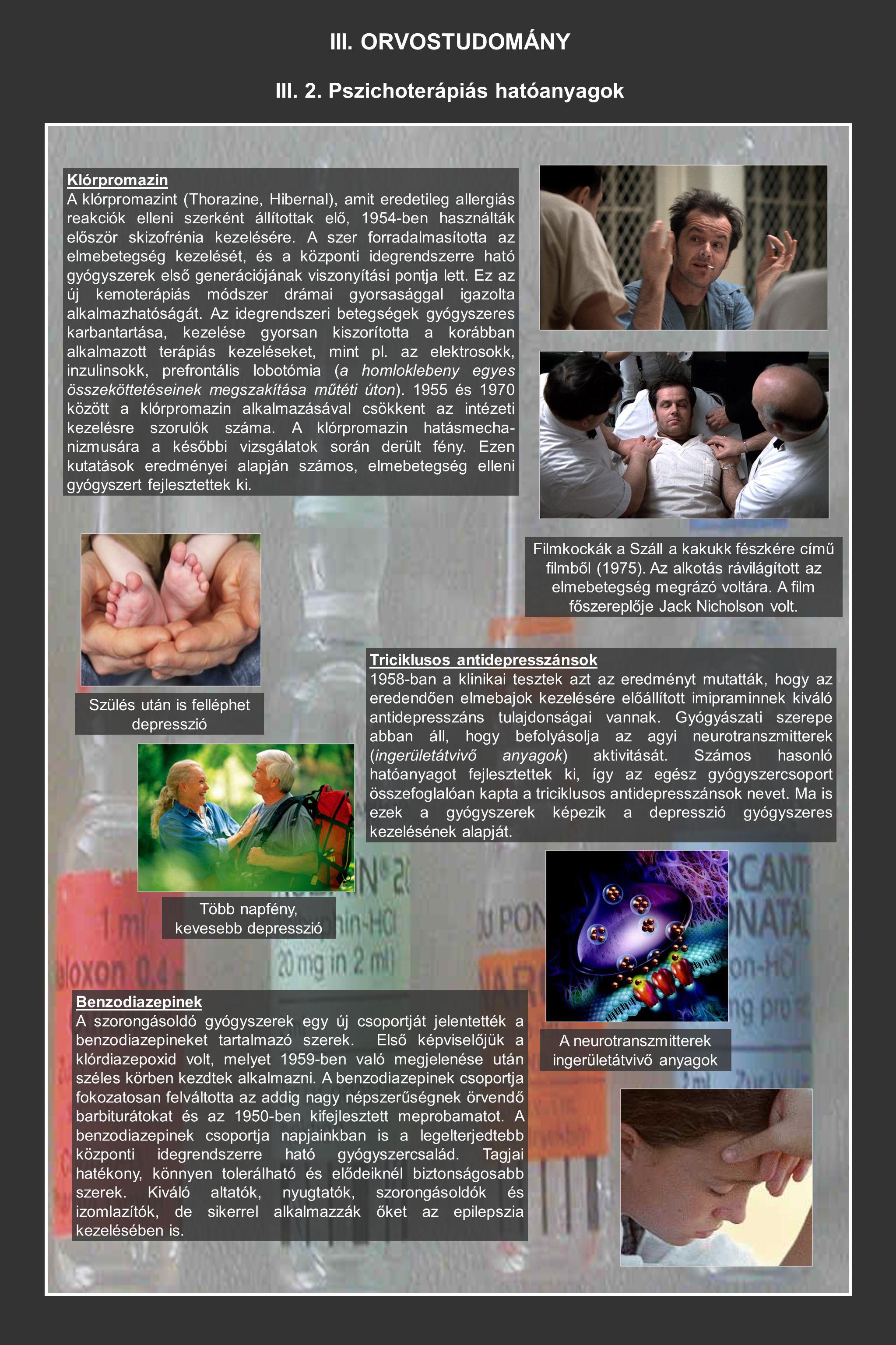 III. 2. Pszichoterápiás hatóanyagok